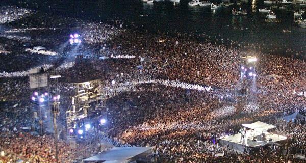 25 jaar geleden: Rod Stewart inCopacabana