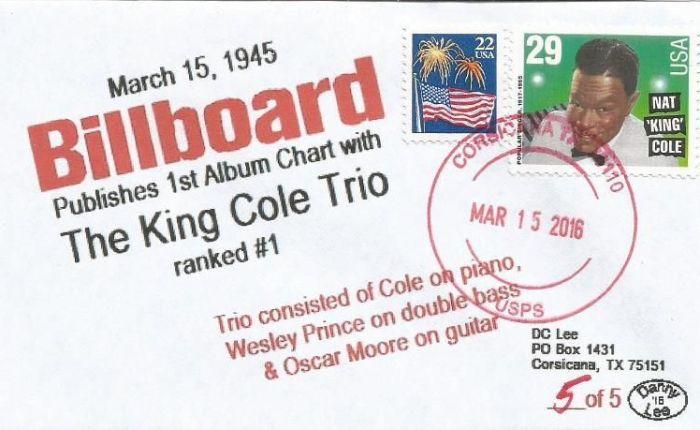 King Cole Trio is eerste nr.1 op dealbum-hitparade