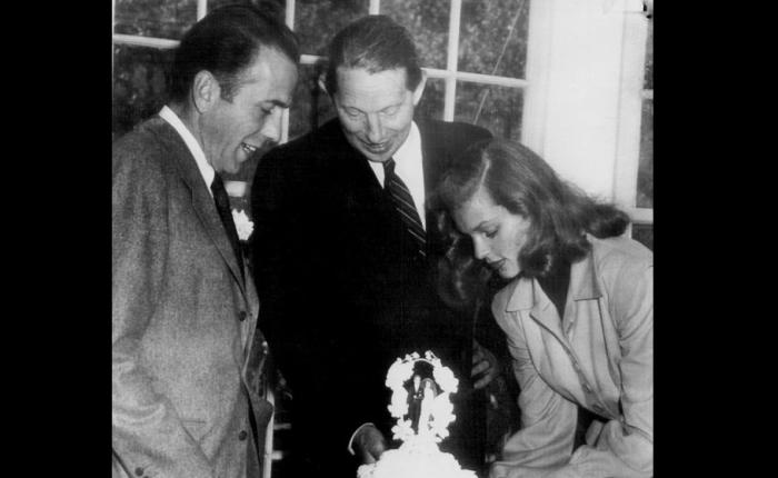 75 jaar geleden: huwelijk van  Humphrey Bogart met LaurenBacall
