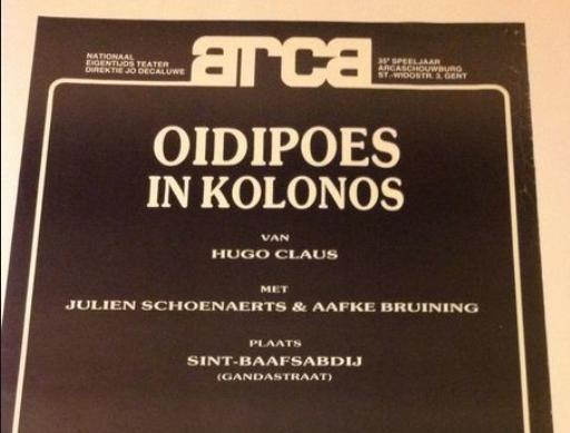"""35 jaar geleden: """"Oidipoes inKolonos"""""""