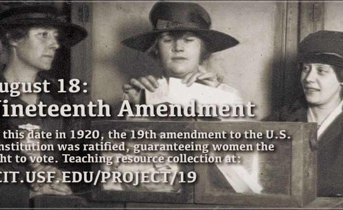 Honderd jaar geleden: stemrecht voor vrouwen in deVS