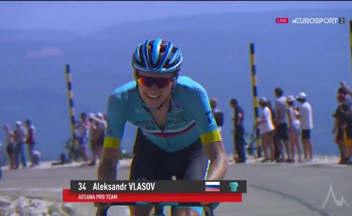 Aleksandr Vlasov wint op de MontVentoux