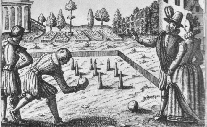 500 jaar geleden: King Henry VIII of England orders bowling lanes atWhitehall